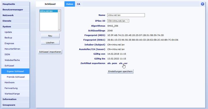 Zertifikate auf Clients installieren | Administrator Handbuch