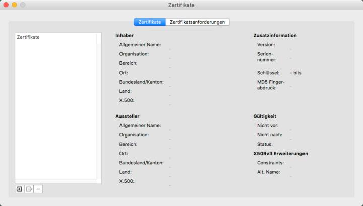 Zertifikate importieren   Administrator Handbuch